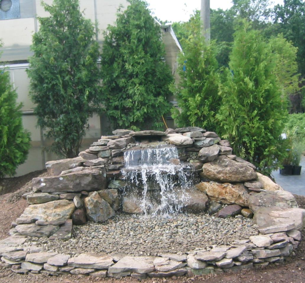 Water feature for Waterfall features